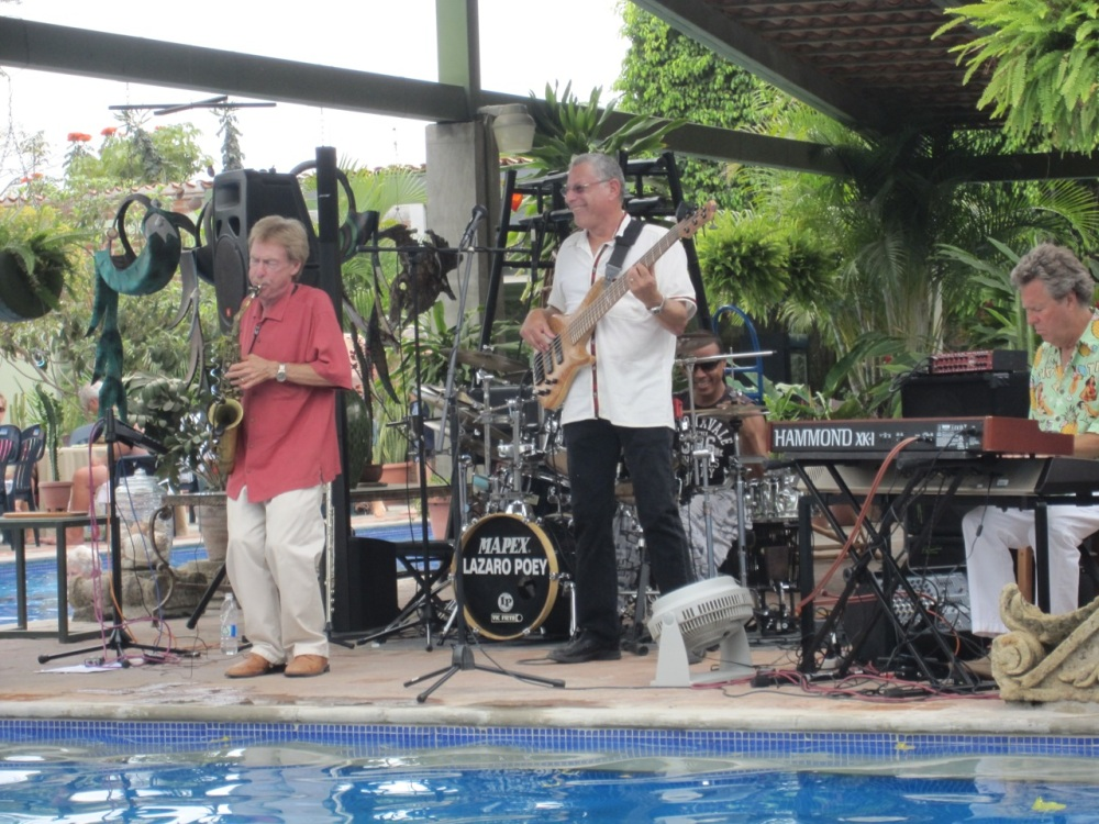 The Banderas Bay Jazz Allstars in concert at Los Arroyos Verdes, Bucerias, Nayarit, Mexico