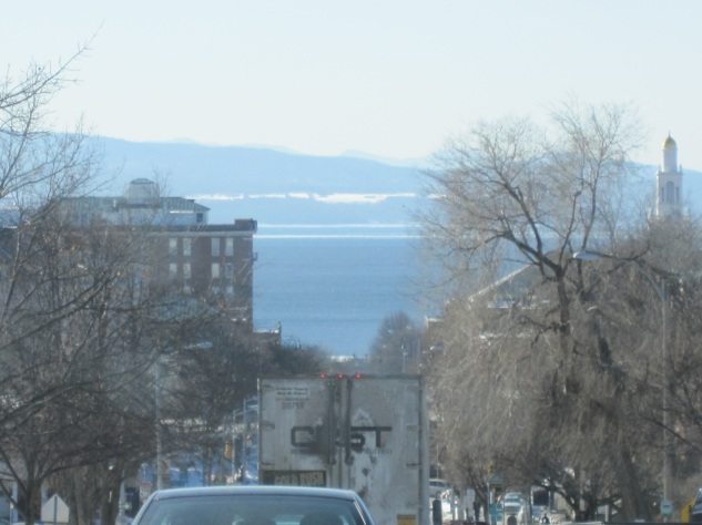 Burlington, VT with Lake Champlain