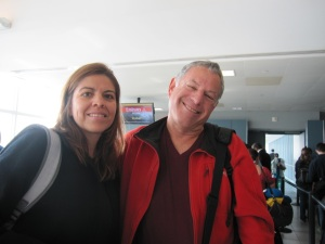 Patricia & Tom before boarding our flight in New York